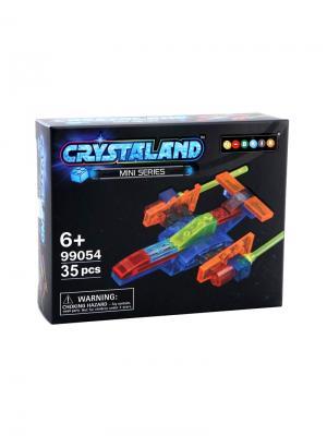 Светящийся конструктор Crystaland Звездный корабль 35 деталей Neocube. Цвет: фиолетовый