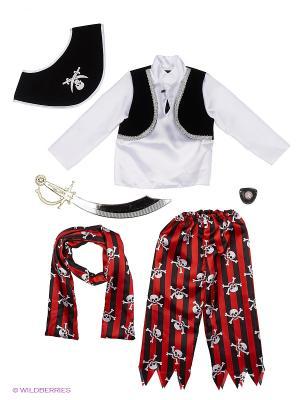 Карнавальный костюм Пират Батик. Цвет: прозрачный