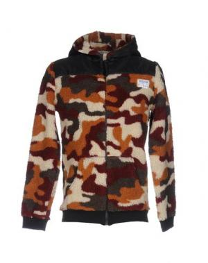 Куртка SHOESHINE. Цвет: красно-коричневый
