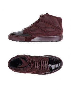 Высокие кеды и кроссовки ALEJANDRO INGELMO. Цвет: красно-коричневый