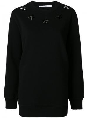 Толстовка с заклепками Givenchy. Цвет: чёрный