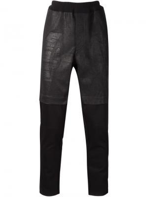 Брюки с вощеными шортами Longjourney. Цвет: чёрный