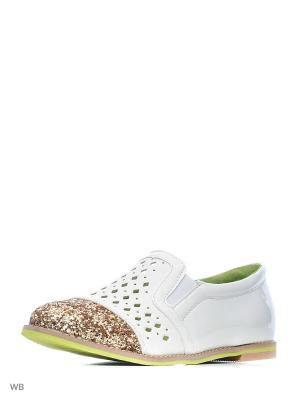 Ботинки San Marko. Цвет: белый, золотистый
