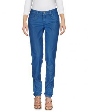 Джинсовые брюки BLEULAB. Цвет: цвет морской волны