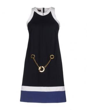 Короткое платье LALTRAMODA. Цвет: темно-синий