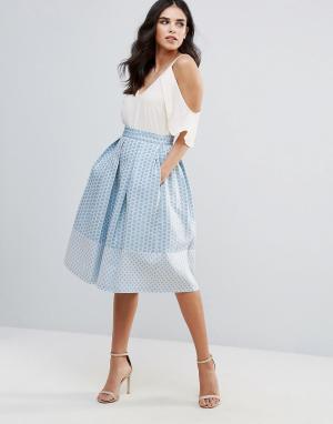 Closet London Приталенная юбка миди - Синий 5949911