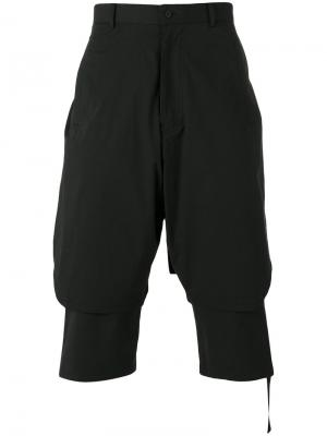 Tape detail layer shorts D.Gnak. Цвет: чёрный