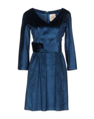 Короткое платье GARAGE NOUVEAU. Цвет: цвет морской волны