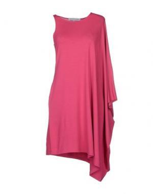 Короткое платье AMAYA ARZUAGA MAILLE. Цвет: фуксия