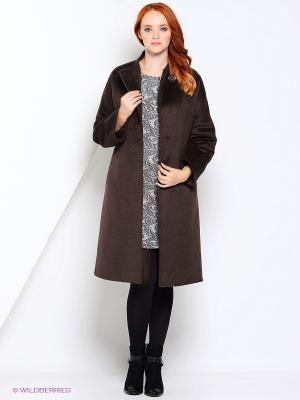 Пальто FORTUNA. Цвет: коричневый