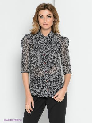 Блузка YUVITA. Цвет: черный