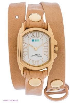 Часы La Mer Collections. Цвет: светло-коричневый, золотистый