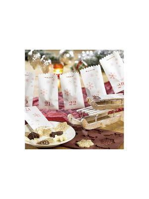 Бумажные рождественские пакеты (24 шт.) Lurch. Цвет: белый