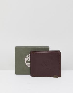Timberland Кожаный бумажник багрового цвета. Цвет: коричневый