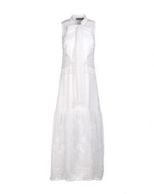 Длинное платье MARIAGRAZIA PANIZZI. Цвет: белый