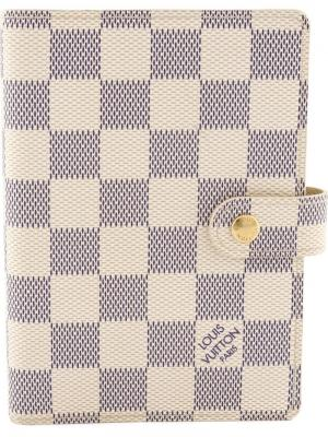 Обложка для ежедневника Damier Azur Louis Vuitton Vintage. Цвет: белый