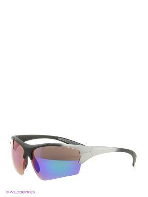Солнцезащитные очки Vita pelle. Цвет: синий, серый