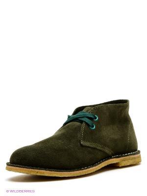 Ботинки El Tempo. Цвет: оливковый