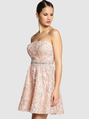 Платье FORMULA JOVEN. Цвет: персиковый