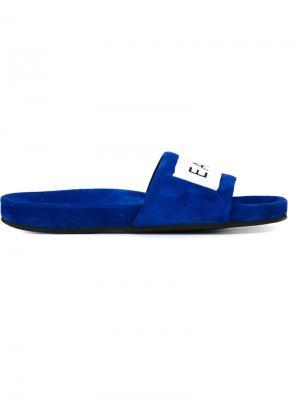 Открытые сандалии с логотипом Each X Other. Цвет: синий
