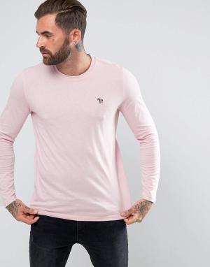 PS by Paul Smith Розовая приталенная футболка с логотипом-зеброй. Цвет: розовый