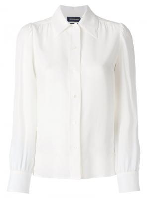 Блузка на пуговицах Vanessa Seward. Цвет: белый