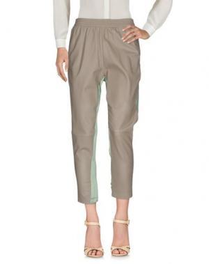 Повседневные брюки TRE CINQUE SETTE. Цвет: хаки