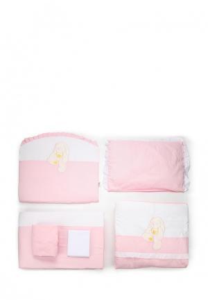 Постельное белье Сонный Гномик. Цвет: розовый
