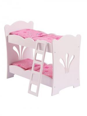 Двухярусная кроватка - колыбель для куклы KidKraft. Цвет: белый