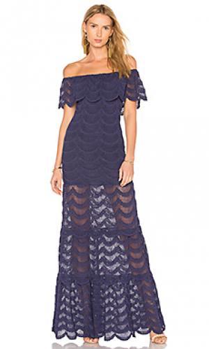 Макси платье fiesta positano Nightcap. Цвет: синий