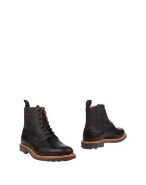 Полусапоги и высокие ботинки MARK MCNAIRY. Цвет: темно-коричневый