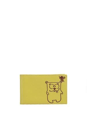 Визитница FABULA. Цвет: желтый
