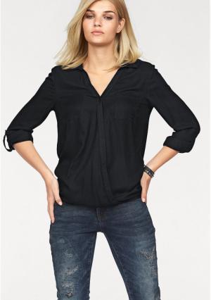 Блузка Laura Scott. Цвет: черный