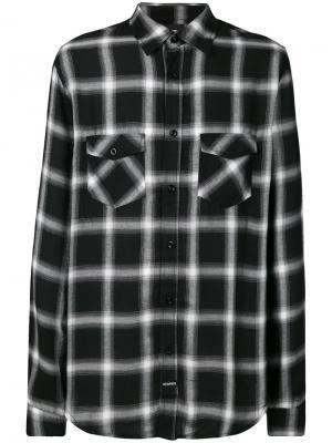 Рубашка в клетку Les (Art)Ists. Цвет: чёрный