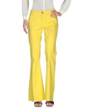 Повседневные брюки ANOTHER LABEL. Цвет: желтый