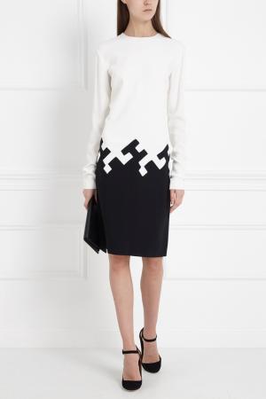Комбинированное платье Vionnet. Цвет: черный, белый