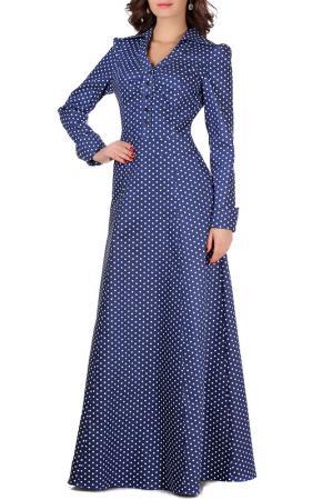 Платье Olivegrey. Цвет: сине-белый горох