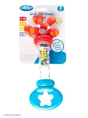 Playgro Игрушка-погремушка. Цвет: красный, голубой, прозрачный