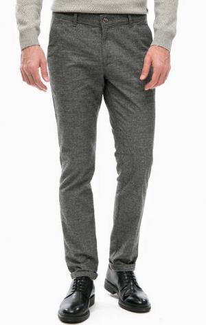 Зауженные брюки серого цвета LERROS. Цвет: серый