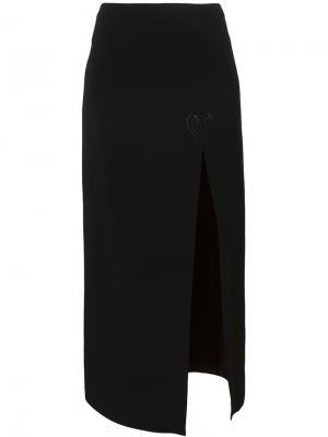 Юбка с макраме Christopher Kane. Цвет: чёрный