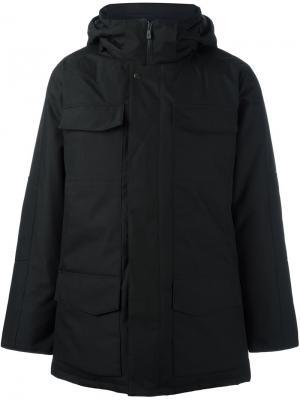 Пальто на молнии с капюшоном Canada Goose. Цвет: чёрный