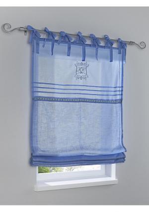 Римская штора Heine Home. Цвет: белый, синий