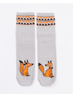 Носки женские Mark Formelle. Цвет: черный, оранжевый, светло-серый