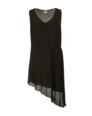 Короткое платье HAUTE HIPPIE. Цвет: зеленый-милитари