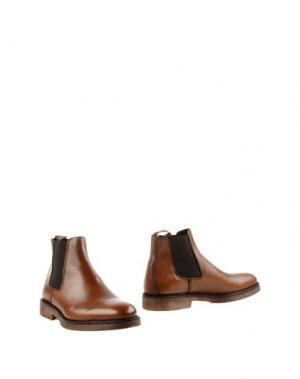 Полусапоги и высокие ботинки BORGO MEDICEO. Цвет: желто-коричневый