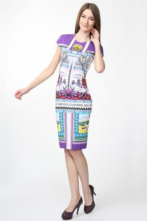 Платье Mary Katrantzou. Цвет: сиреневый
