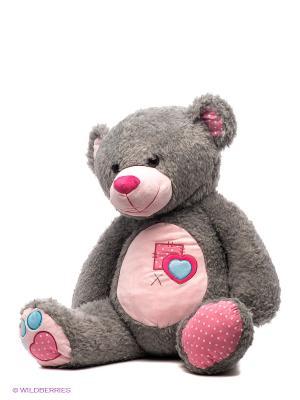 Мишка Тошка Fluffy Family. Цвет: серый, розовый