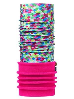 Бандана JUNIOR POLAR PIERROT MULTI / PINK FLUOR Buff. Цвет: голубой, розовый