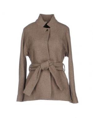Пальто N_8. Цвет: коричневый