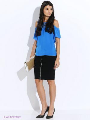 Блузка GUESS. Цвет: синий